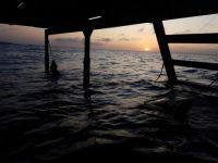 Sunrise under the docks