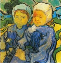 Vincent van Gogh--Two Children, 1890