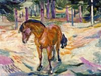 Edvard Munch, Horse in a Landscape (1912)
