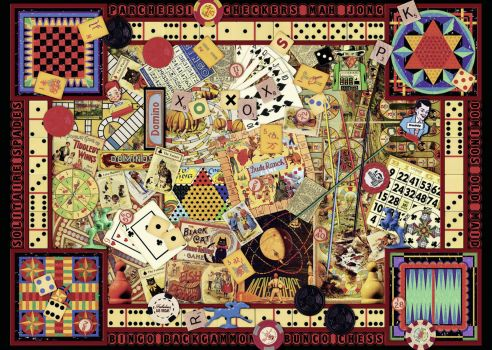 """Vintage Games"" By Ravensburger...... A Delightful And Challenging  Jigsaw Puzzle"