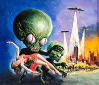 invasion of saucer men art