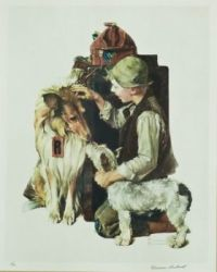 Raleigh Rockwell Travels (Boy with Two Dogs)