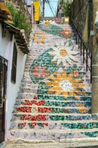 art on the stairs