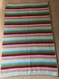Granny stitch crochet blanket