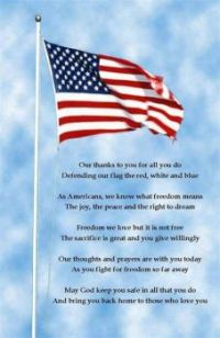 A Prayer for those who keep America Free