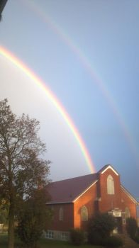 Can you see the second rainbow?