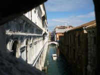 Looking out from Bridge of Sighs to North