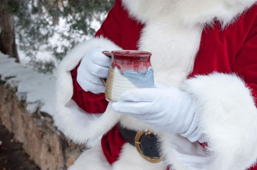 Even Santa needs coffee