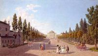 View of the Pavlovsk Palace park in 1808