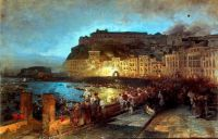 Fireworks in Naples, 1875 by Oswald Achenbach