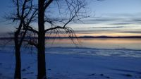 dusk on Lake Champlain