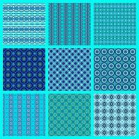 Patterns Made From My Aquamarine Birthstone Kaleidos!! ~ M