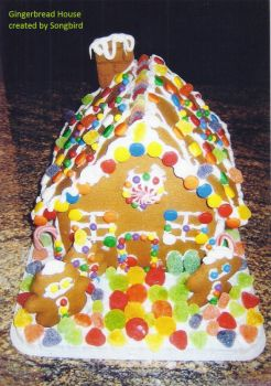 songbirds gingerbread house