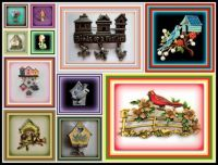 Theme - Birds and Birdhouses - Found here in a collection of Brooches