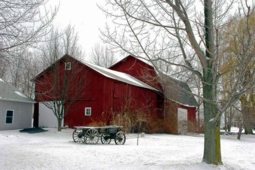The Old Barn And Cart