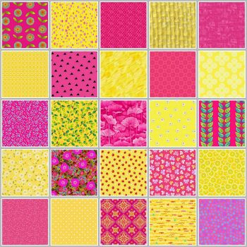 alternating pink and yellow