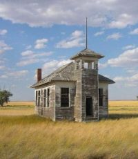 Abandoned Schoolhouse on the Prairie -- Fresno, Montana....