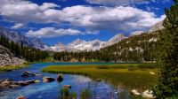 Beautiful- river mountains-and-white-clouds