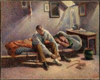 Maximilien Luce - Morning, Interior (1890)