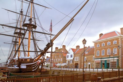 HMS Trincomalee, Hartlepool, England. Oldest warship afloat in Europe.