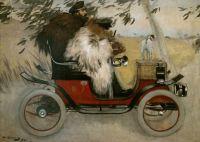 Ramon Casas and Pere Romeu in an Automobile, 1901