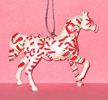 Painted Pony ornament 10b - Peppermint Twist