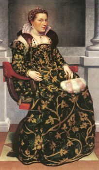 Giovanni Battista Moroni - Isotta Brembati Grumelli c.1520