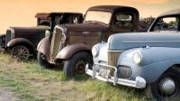 antique trucks and cars , Montana