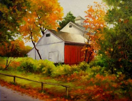Barn in Fall Colors