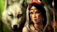 Warrior Girl and Wolf