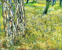 Vincent van Gogh - Tree Trunks in the Grass