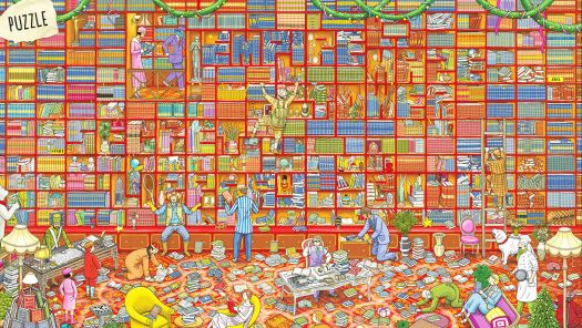 The Bookshelf Puzzle Hard