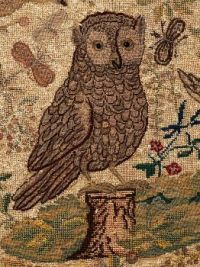 Detail from Needlework Textile (furnishing fabric), 1700-1750, possibly Flemish