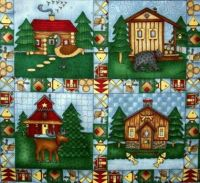 Cabin_in_the_woods_quilt_center_block