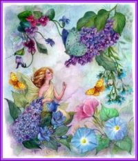Lilac Enchanting Flower Fairy (smaller size)