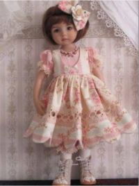Beautiful Doll in Lovely Dress and Cute Shoes