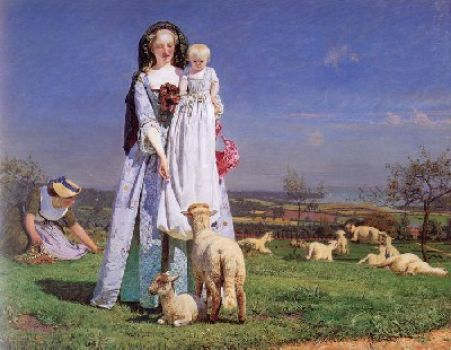 Pretty Lambs by Fprd Madox Brown