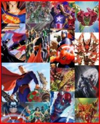 Comic Art by Alex Ross for BOTH DC and Marvel Comics