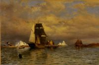 William Bradford--Looking out of Battle Harbor, 1877