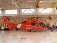 Coast Guard Helo in Hanger