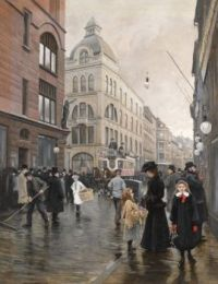 "Paul Gustav Fischer, ""View of Stroget, Copenhagen"", 1901"