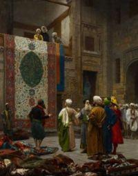 """Jean-Léon Gérôme, """"Carpet Merchants"""", c1887"""