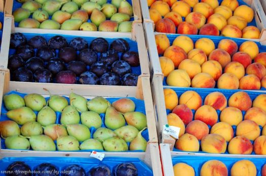Summer fruits in the market