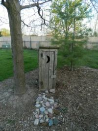 Little outhouse in the backyard.