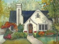 House Painting in Watercolor