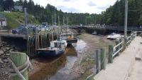 Halls Harbour Nova Scotia Canada tide is out