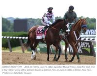 Tiz The Law wins Belmont Stakes!