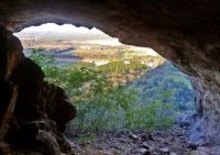 Looking out from the Tibrogargan Cave, Glasshouse Mountains, SE Queensland