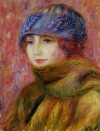 William Glackens--Woman in a Blue Hat