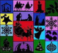 Christmas Silhouettes: Largest